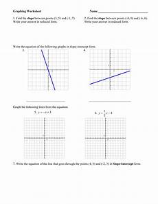 graphing worksheet name slope