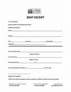 basic rent receipt microsoft word template and pdf