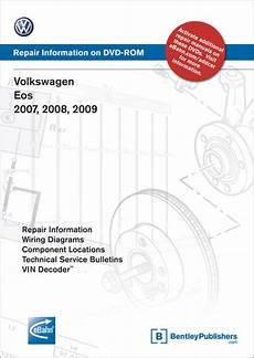 old cars and repair manuals free 2009 volkswagen rabbit spare parts catalogs front cover volkswagen eos 2007 2008 2009 repair manual on dvd rom bentley publishers
