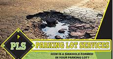 how is a sinkhole formed parking lot services of florida