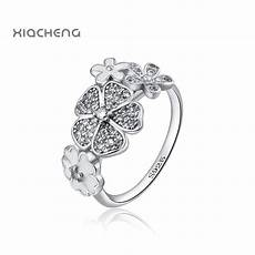 flowers wedding ring european 925 sterling silver fit pandora rings jewelry r60