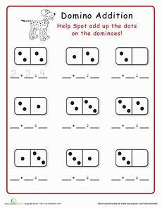 domino subtraction worksheets for kindergarten 10504 domino addition worksheet education