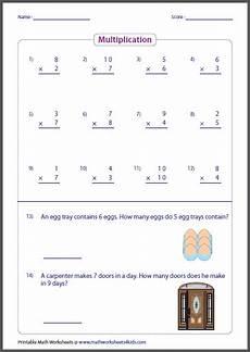 multiplication worksheets for beginners 4404 basic multiplication worksheets