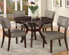 dining w 48in dia table by acme ac16250set