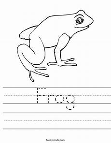 frog worksheet twisty noodle