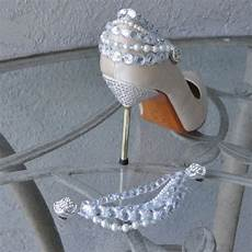 glamorous rhinestone and pearl shoe clips for the back of