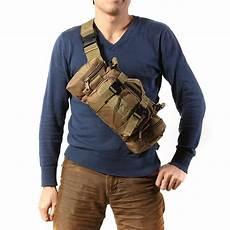 imok tas selempang pria army sling bag 6l bl015 black jakartanotebook com