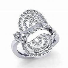 real 3ct cut diamond womens wavy fancy wedding band