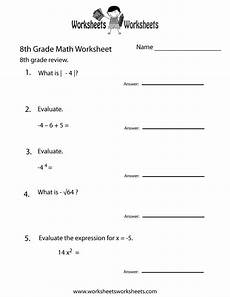 probability worksheets grade 8 5683 free printable 8th grade math review worksheet