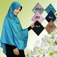Jilbab Satin Segi Empat Syar I Jumbo Model Kerudung