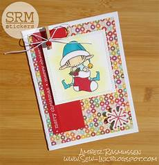 srm stickers merry christmas card by