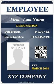 employee i card template 5 best vertical design employee id cards microsoft word
