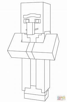 ausmalbild minecraft dorfbewohner ausmalbilder