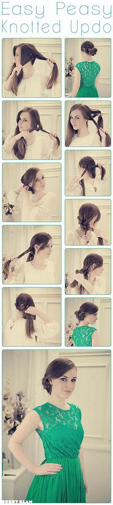 diy easy peasy knotted updo pictures photos and images for facebook pinterest and