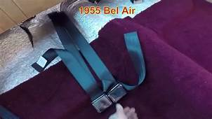 Classic Car Seat Belt Installation Safety Chevrolet