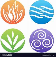 Symbols Of Four Elements Royalty Free Vector Image