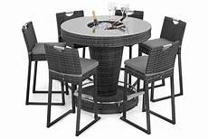 bar set maze rattan winchester 6 seat round bar set with ice bucket