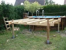 piscines spas quelle structure support pour terrasse en