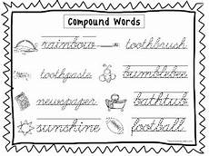 2 cursive trace the compound words worksheets preschool 2nd grade handwriting