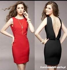 odkryte plecy sukienka czarna w ubrania szafa pl