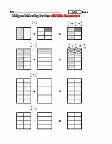 subtraction visual worksheets 10304 5 nf 1 add subtract fractions with visual pictures subtracting fractions common math