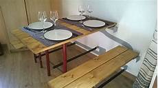 table dépliante murale table de jardin pliable en bois mural jardi brico