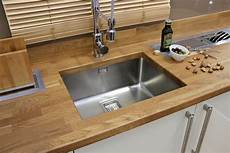 Solid Oak Worktop With Franke Mount Stainless Steel