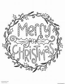 Frohe Weihnachten Malvorlagen Merry Wreath Coloring Pages Printable