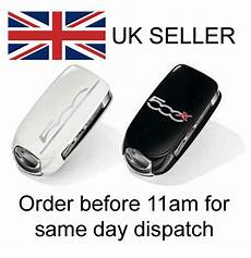 genuine fiat 500x pair of key remote covers black ivory