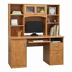 office depot home office furniture realspace landon 56 w desk with hutch oak office depot
