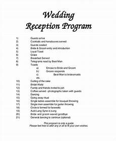 free 7 wedding programs in in ai psd pages ms word