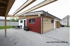 Pultdach Haus Wolfhaus Denk Fertighaus Bungalow