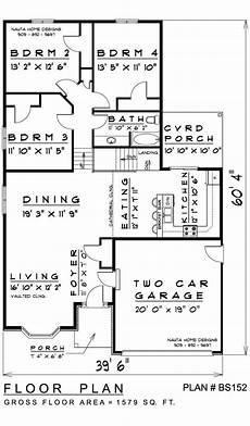 4 level backsplit house plans 4 bedroom backsplit house plan bs152 1579 sq feet