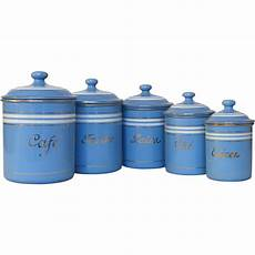 vintage kitchen canisters sets set of sky blue enamel graniteware kitchen