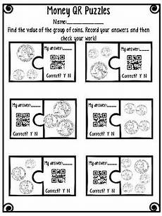 money riddle worksheets 2303 money qr code puzzle worksheet and center by lyssbliss tpt