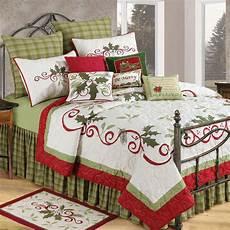 c f enterprises holiday garland holiday quilt bedding and bedding sets at hayneedle