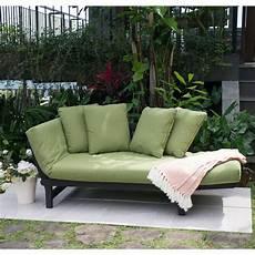 green outdoor patio furniture chair lounger futon deck