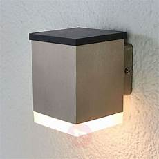 tyson outdoor stainless steel led solar wall light lights co uk