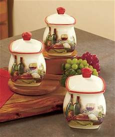 canisters kitchen decor vineyard kitchen themes and canister sets on