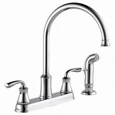 lowes kitchen faucets two handle kitchen faucet with spray 21716lf delta faucet
