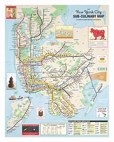 The New York City Sub Culinary Map Rick Meyerowitz