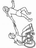 Disabilities 28 People Coloring Pages  Page Book