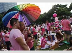 Gay pride celebrates in Singapore where homosexual acts