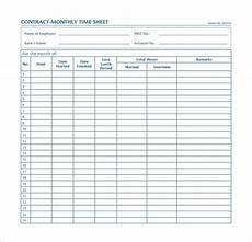 free 9 monthly time sheet calculator templates in pdf ms word excel