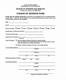 social security change of address form world of exle