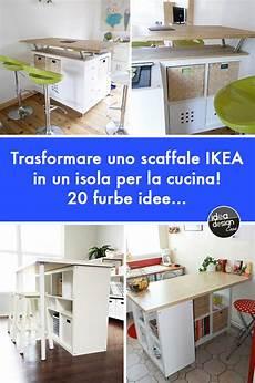 scaffali da cucina trasformare uno scaffale ikea in un isola per la cucina