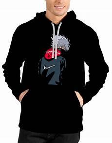 supreme hoodies supreme kakashi black hoodie swag shirts