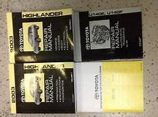 car owners manuals for sale 2003 toyota highlander electronic toll collection 2003 toyota highlander suv truck service shop repair manual set w tran collisi ebay