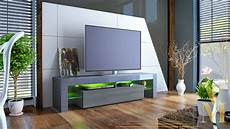 tv stand unit board lowboard cabinet lima grey high