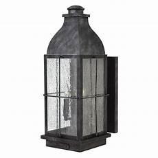 hinkley lighting bingham greystone outdoor wall light